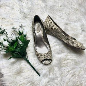 Cole Haan Nike Air Snake Skin Wedges Peep Toe 7.5